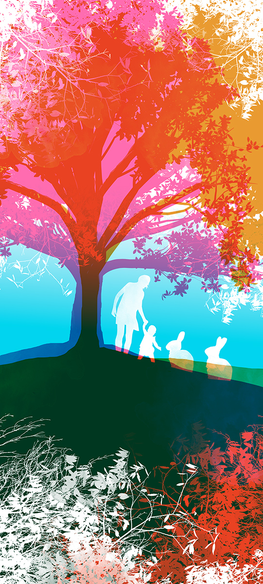 wall graphic illustration of a tree